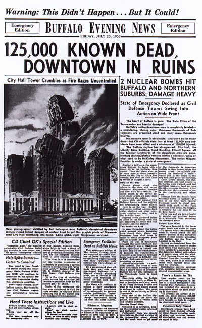 July 20, 1956 'Emergency Edition' of The Buffalo Evening News