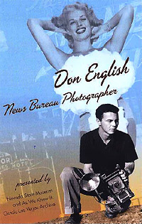 Cover of a brochure for a tribute to Las Vegas News Bureau photographer Don English