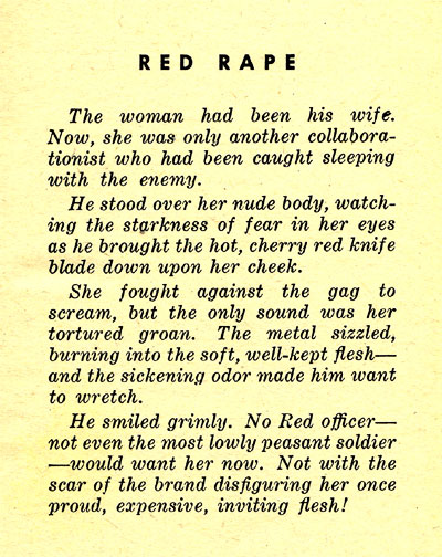 RED RAPE teaser page
