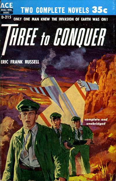 Three to Conquer by Eric Frank Russell, Ace double D-215